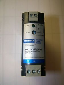 New Rhino Industrial Power Supply 100 240 Volt 0 7a 0 4a Psp24 0245