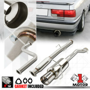 Stainless Steel Catback Exhaust System 4 Muffler Tip For 90 93 Honda Accord 2 2