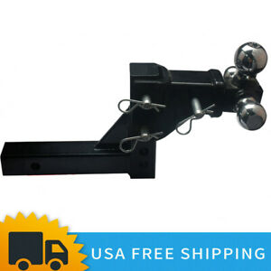 3 Ball Adjustable Trailer Tow Drop Hitch Ball Mount Towing Truck 2 Receiver