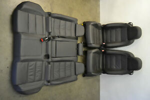 Mk5 Vw R32 Anthracite Leather Seats Seat Set 2 Door Genuine Oem 2008