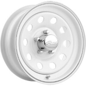 14x6 Pacer 55w White Mod Steel Wheels Rims 00 5x4 50 Qty 4