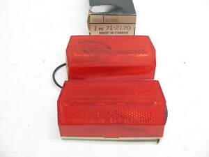 X2 Vintage Dominion 71 2120 Red Rectangular Side Marker Lights