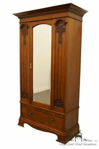 1940 S Antique Vintage Wardrobe Armoire With Mirrored Door