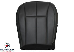 01 Jeep Grand Cherokee Limited driver Side Bottom Leather Seat Cover Gray black