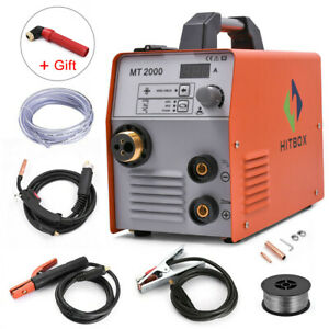 Hitbox Multi Function Mig Welder Mig arc lift Tig Gasless 220v Ac Inverter Gift