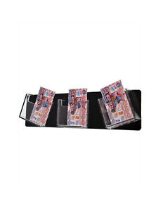 Business Card Holder 3 Pocket Clear Black Wall Mount Vertical Qty 12