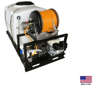 Sprayer Commercial Skid Mounted 10 5 Gpm 560 Psi 5 5 Hp 200 Gallon T