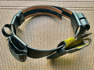 Vintage Leather Police Duty Gear Belt W 6 Accessories Don Hume Safariland