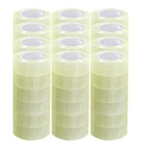 Packing Tape 72 Rolls 1 9 X 110 Yards 330 Ft Box Carton Sealing Clear 2 Mil