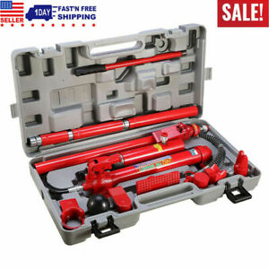 10 Ton Hydraulic Jack Body Frame Repair Kit Auto Shop Tool Kit Set