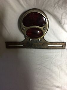 Vintage 1920s Hot Rat Rod Auto Motorcycle Car Tail Gate License Plate Stop Light