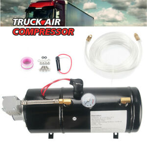 150psi Dc 12v Truck Pickuo On Board Air Compressor horn With 3 Liter Tank New
