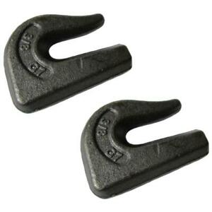 2 G70 3 8 Weld On Chain Grab Hooks Loader Bucket Flatbed Trailer Tow Tie Down