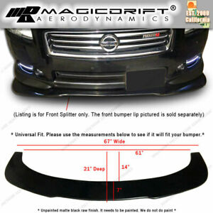 For Nissan Maxima Front Bumper Lip Flat Under Panel Splitter Diffuser Wind Blade