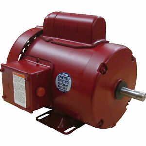 Leeson Farm Duty Electric Motor 1 2 Hp 1 725 Rpm 115 208 230 Volts Single Phase