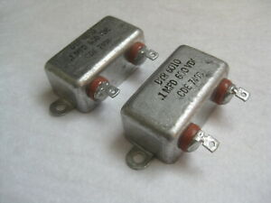 Pair 1 Uf 600v Cornell Dubilier Bathtub Pio Oil Capacitors Tested Under Load