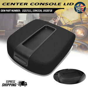 Center Console Top Armrest Lid Black For Silverado Sierra Tahoe Gmc 2007 14 Us