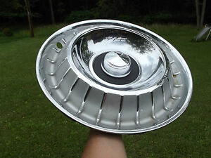 63 1963 Ford Thunderbird T bird Hubcaps Wheelcovers Oem 3 Original Nice