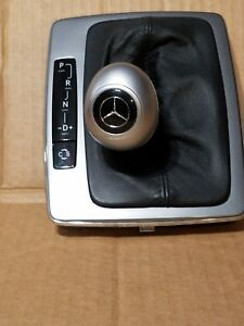 08 11 W204 Mb C300 C350 Center Shifter Shift Knob Leather Boot Cover Trim Silver
