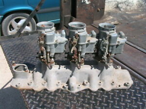 32 33 34 35 36 37 38 39 40 41 Offenhauser 3x2 Ford Flathead V8 Intake With Carbs