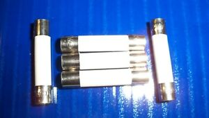 5 Microwave Ceramic Fuses Fast Blow 20a 6x30mm 1 4 X 1 1 4 20 Amp