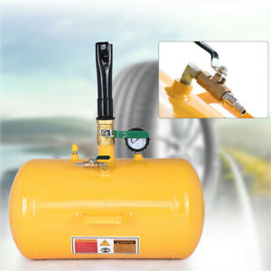 Air Tire Bead Seater Blaster Inflator Tire 10 Gallon Yellow threaded Barrel Us