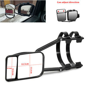 1x Universal Clip On Trailer Towing Side Mirror Extender Extension Truck Suv Rv