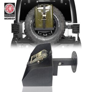 Spare Tire Jerry Can Mount Holder W Tall Tray For Jeep Wrangler Tj Jk Jl 97 20