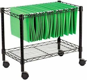 Alera Alefw601424bl Single tier Rolling File Cart 24w X 14d X 21h Black