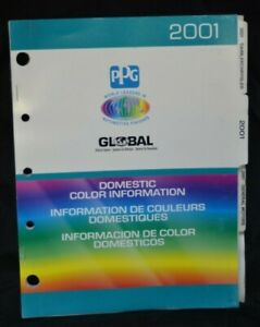 Ppg Paint Color Chips Charts 2001 Domestic Cars Trucks Ford Gm Ppg Dox371 01
