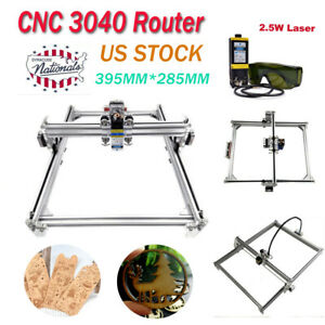 Cnc 3040 Laser Engraver Kit Router 2 5w Laser Module Carving Engraving Machine