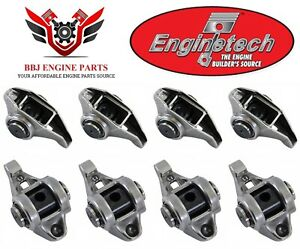 8 Enginetech Gm Geniii Ls1 Ls2 5 7 6 0 Rocker Arms With Updated Trunion Kits