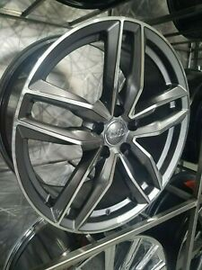 Four Brand New 19x8 5 Gunmetal Sport Style Rims For Audi A3 A4 A5 S3 S4 S5