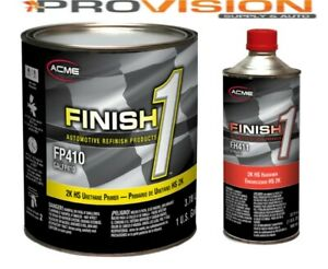 Finish 1 2k Hs Urethane Primer Gray Gallon Kit With Activator fp410 With Fh411