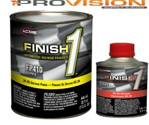 Finish 1 2k Hs Urethane Primer Gray Quart Kit With Activator fp410 With Fh411