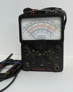 Vintage Philco Electronic Circuit Master Model 7004 Volt Ohm Meter Working