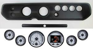 64 65 Chevelle Black Dash Bezel Dakota Digital Hdx 2060 S Universal Gauges