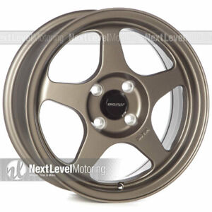 Circuit Cp22 15x6 5 4 100 35 Flat Bronze Wheels Fits Acura Integra Ls Gs Gsr