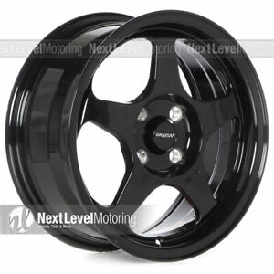Circuit Cp22 15x6 5 4 100 35 Gloss Black Wheels Fits Honda Civic Eg Ek Spoon