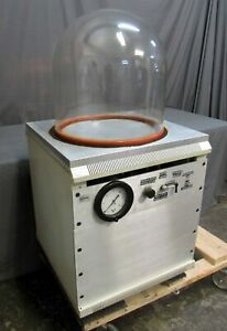 High Vacuum Chamber glass Bell Jar System With 18 od X 18 h Bell Welch Pump