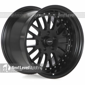 Circuit Cp21 18x9 5 18x11 5 114 3 20 Flat Black Wheels Staggered Fits G35 Mesh