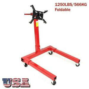 360 Degree 1250lbs Foldable Engine Overturn Stand Hoist Maintenance Support New