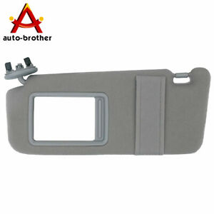 Sun Visor Sunshade Without Sunroof Gray Drivers Side For Toyota Camry 2007 2011 Fits Toyota Camry