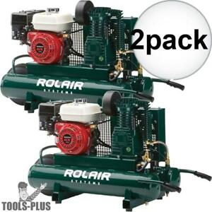 Rolair 4090hk17 5 5 Hp 9 Gal Single Stage Portable Air Compressor 2x New
