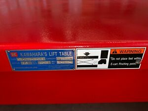 Brand New Never Used Kawahara Lift Table ktl 1221 09 2 5