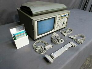 Hp Hewlett Packard 1650a Logic Analyzer With System Disks And Pod Cables