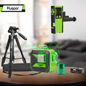 Huepar 12lines Self leveling Rotary Grade Laser Level With Tripod And Receiver