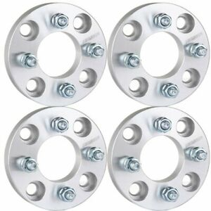 4pc 1 Thick Wheel Spacers Adapter 4x4 5 To 4x100 For 1987 1993 Ford Festiva