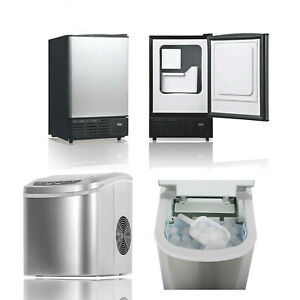 Smad Commercial Ice Maker Cube Machine Freestanding Undercounter Home Bar