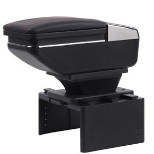 Universal Car Armrest Consoles Storage Box With Cup Holder Ashtray Arm Rest Hand